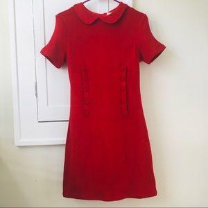 ModCloth Red Peter Pan Collar Dress 60s sixties